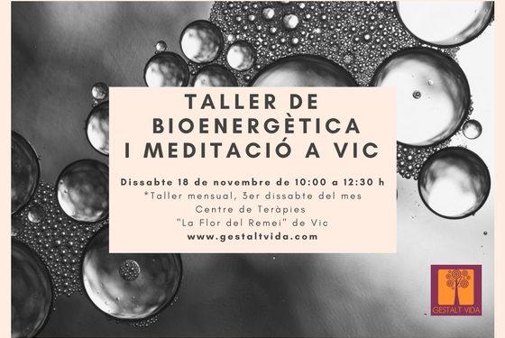 Taller de bioenergètica i meditació a Vic