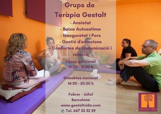 Grupos de terapia Gestalt
