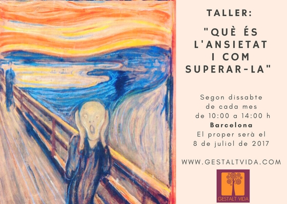 """Taller: """"Que es la ansiedad y cómo superarla"""" en Barcelona"""