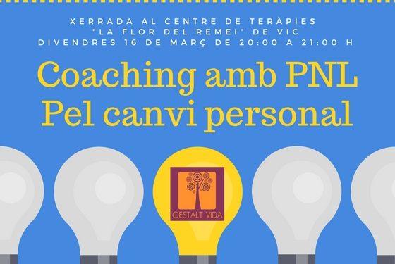 Charla sobre Coaching con PNL en Vic