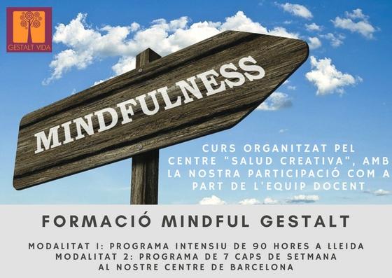 Vamos participar como formadores en un curso Mindful Gestalt