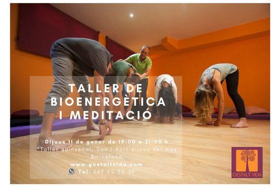 Taller de Bioenergética y Meditación en Barcelona