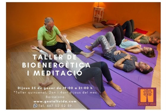 Segundo Taller quincenal de Bioenergética y Meditación en Barcelona