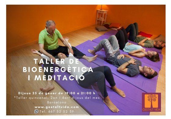 Segon taller quinzenal de bioenergètica i meditació a Barcelona