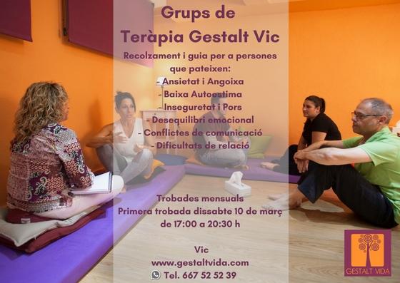 Grups de teràpia Gestalt a Vic